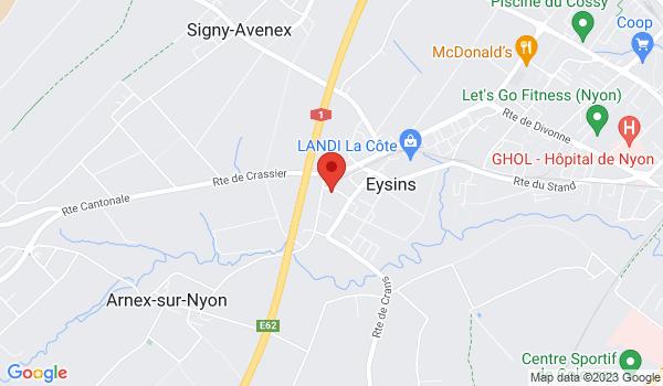 Google map positionnant le bien Locaux situés au rez-de-chaussée à Eysins