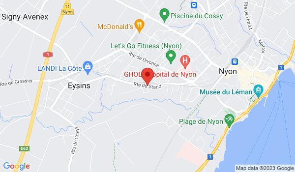 Google map positionnant le bien Places de parc extérieures à Nyon