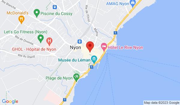 Google map positionnant le bien Magnifique appartement de 2 pièces avec balcon à Nyon