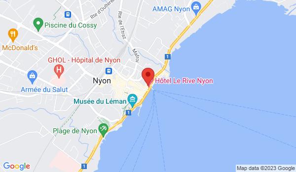 Google map positionnant le bien Arcade située en face du lac Léman à Nyon