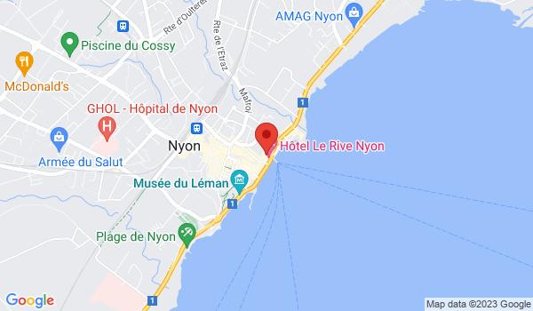 Google map positionnant le bien Splendide restaurant à remettre au bord du lac à Nyon !