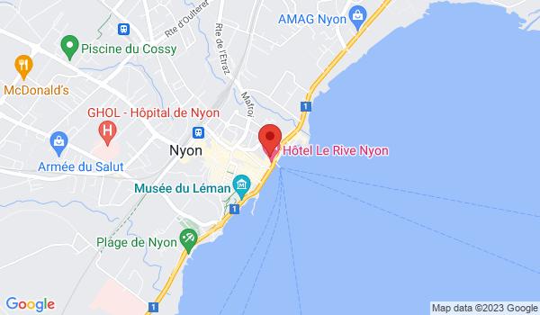 Google map positionnant le bien Très bel appartement partiellement rénové au bord du lac à Nyon