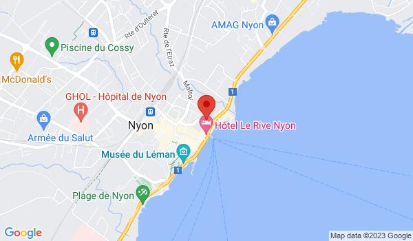 Google map positionnant le bien Bureaux au bord du lac à Nyon