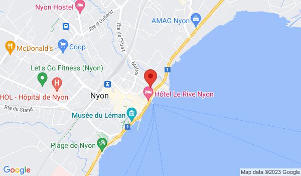 Google map positionnant le bien Magnifiques bureaux d'env. 560m2, au bord du lac à Nyon