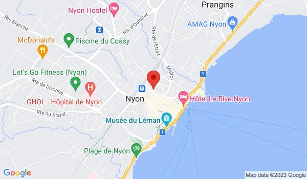 Google map positionnant le bien Somptueux appartement rénové de 5,5 pièces à Nyon