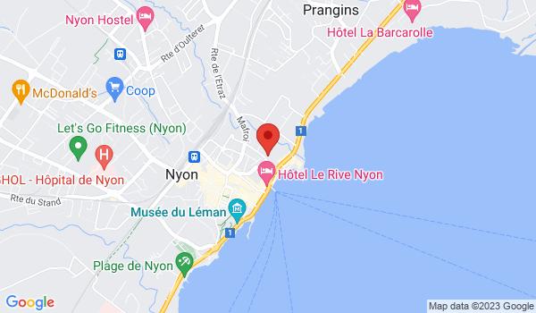 Google map positionnant le bien Superbe appartement de 4,5 pièces de standing situé au bord du lac à Nyon