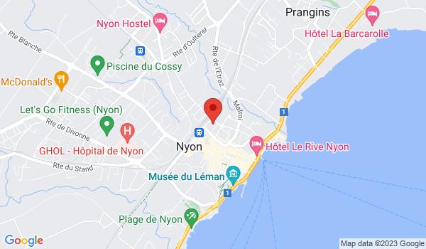 Google map positionnant le bien Place de parc intérieure à Nyon