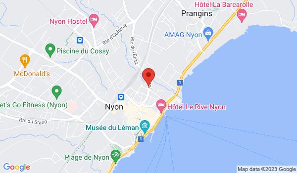 Google map positionnant le bien Places de parc intérieures à louer à Nyon