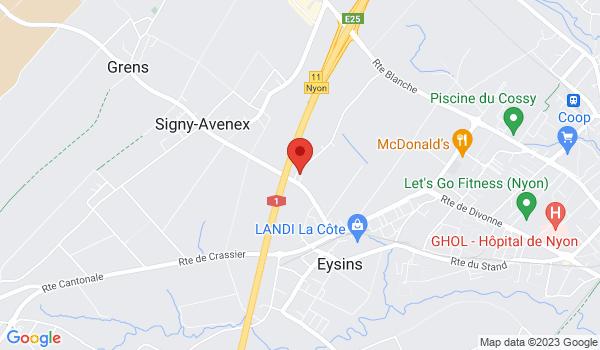 Google map positionnant le bien Places de parc à louer - Eysins