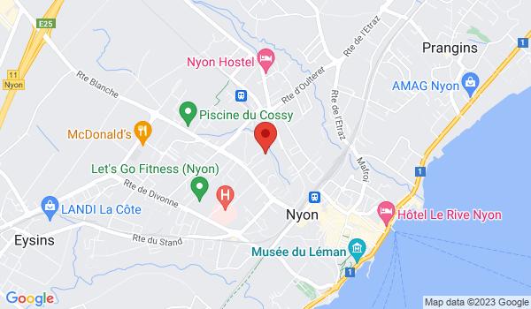 Google map positionnant le bien Place de parc extérieure à Nyon