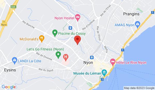 Google map positionnant le bien Charmant 3 pièces avec balcon à Nyon