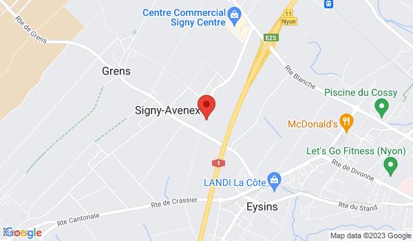 Google map positionnant le bien Place de parc extérieure à louer à Signy