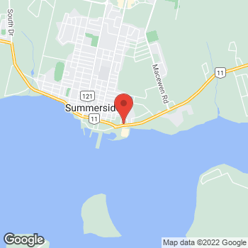 Map of Tim Hortons at 91 Water St, Summerside, PE C1N 1A6