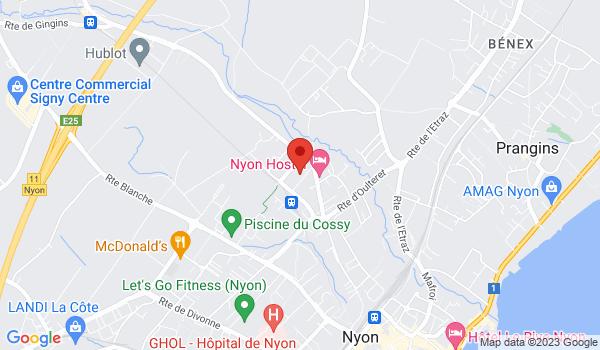 Google map positionnant le bien Garage box à louer à Nyon