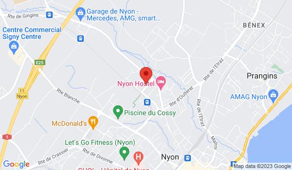 Google map positionnant le bien Place de parc intérieure à louer à Nyon