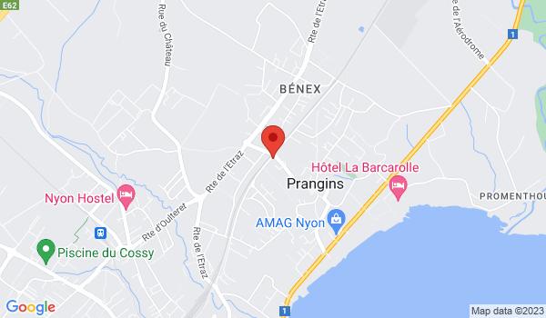 Google map positionnant le bien Joli 4 pièces à Prangins