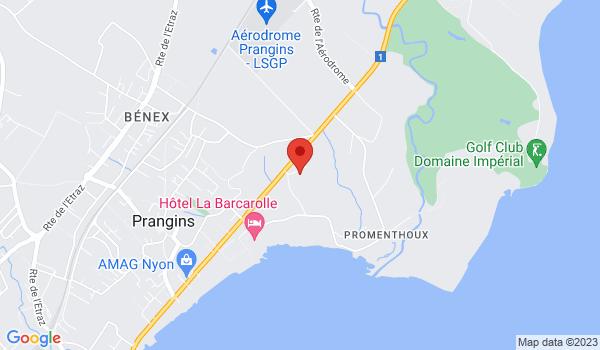 Google map positionnant le bien Studio au rez-de-chaussée à Prangins