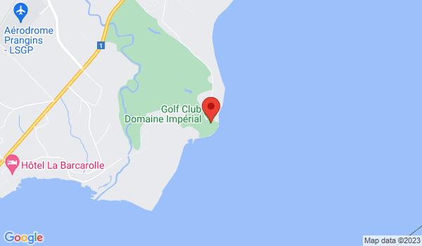 Google map positionnant le bien Belle villa située au bord du Golf de Gland