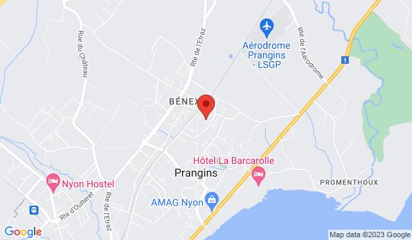 Google map positionnant le bien Place de parc à louer à Prangins