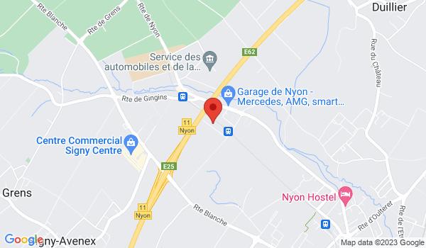 Google map positionnant le bien Grands bureaux idéalement situés à l'entrée de Nyon