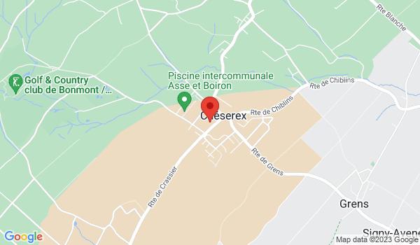 Google map positionnant le bien Duplex de 3 pièces d'env. 95 m2 à Chéserex