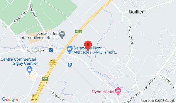 Google map positionnant le bien Charmante chambre à Nyon
