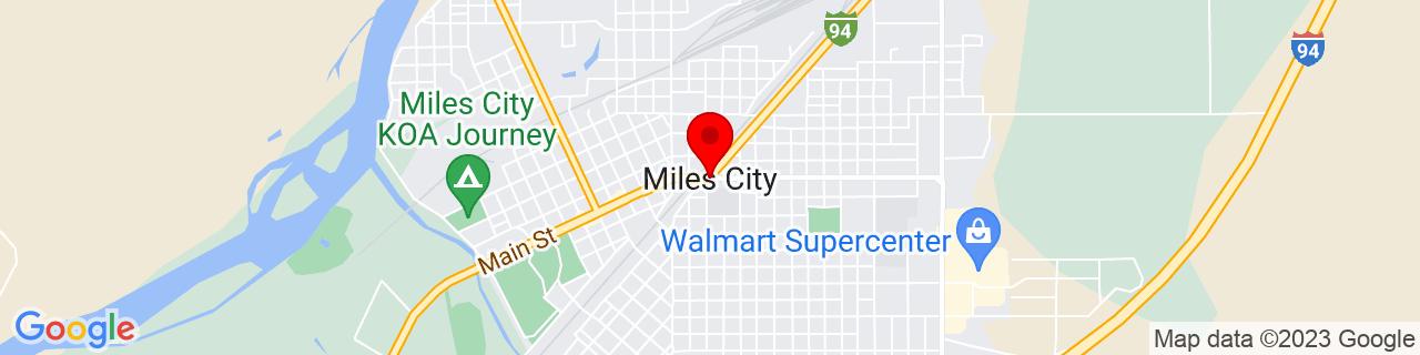 Google Map of 46.4083362, -105.8405582