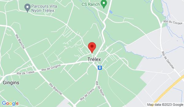 Google map positionnant le bien Bel appartement de 3,5 pièces au calme à Trélex