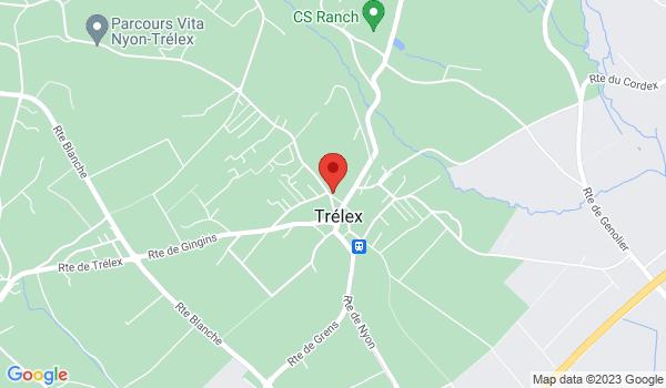 Google map positionnant le bien Local commercial d'environ 50m2 à Trélex