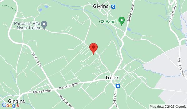 Google map positionnant le bien Splendide villa mitoyenne de 5.5 pièces à Trélex