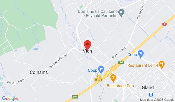 Google map positionnant le bien Superbe 3 pièces au coeur de Nyon avec jardins
