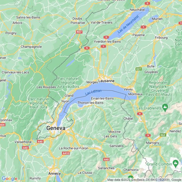 Locatie Meer van Genève