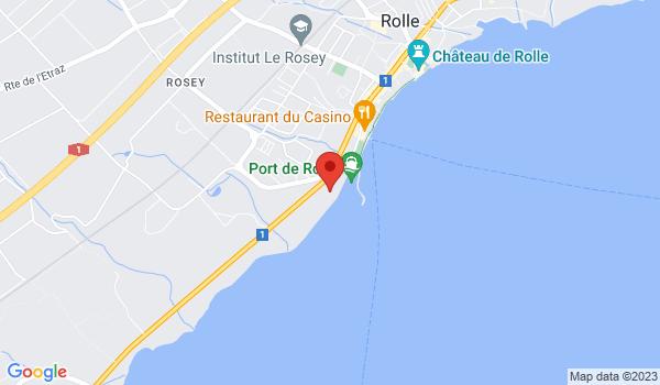 Google map positionnant le bien Splendide villa pieds dans l'eau à Rolle