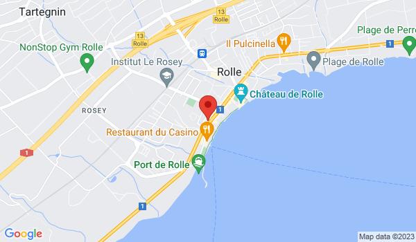 Google map positionnant le bien Superbe triplex de 4,5 pièces d'env. 140 m2 à Rolle