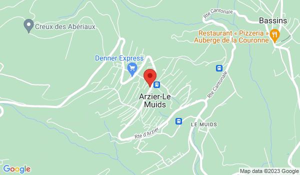 Google map positionnant le bien Beau duplex de 4.5 pièces avec jardin à Arzier