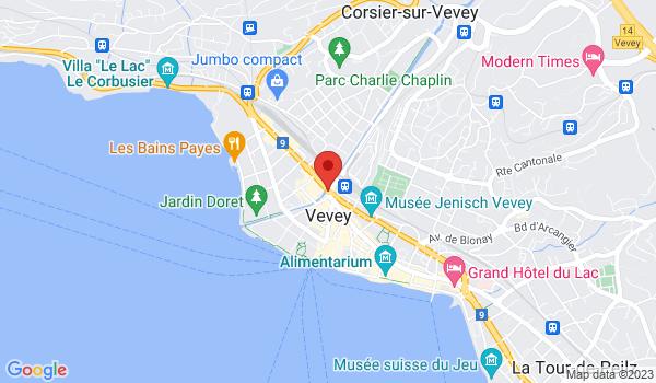 Google map positionnant le bien Magnifique appartement de 3,5 pièces à Vevey