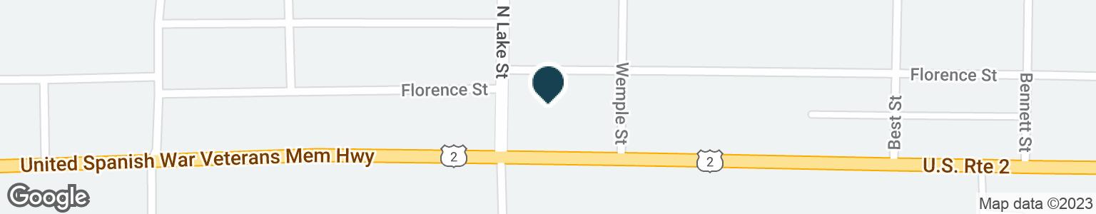 Google Map of802 E CLOVERLAND DR