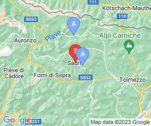 Karte für Albergo Diffuso Sauris di Sotto