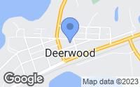 Map of Deerwood, MN