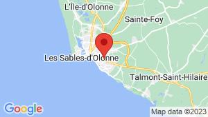 Carte de localisation du centre de contrôle technique Les Sables d'Olonnes