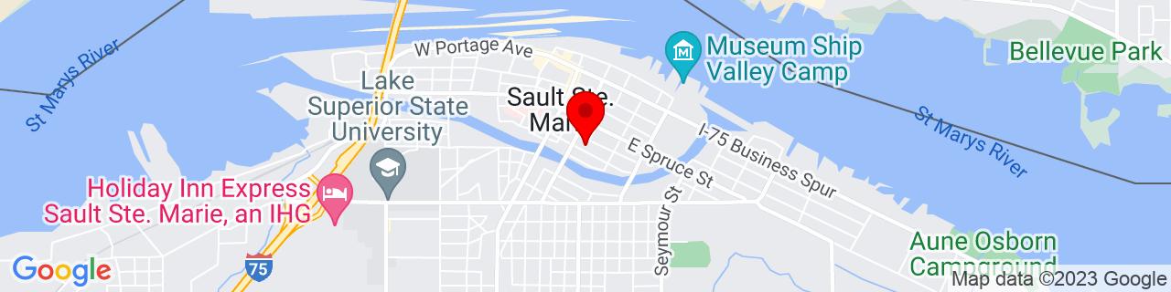 Google Map of 46.4952996, -84.3453169