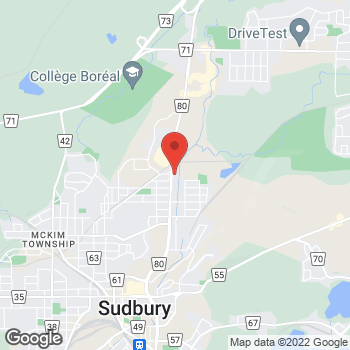 Map of Burger King at 660 Notre Dame Ave, Sudbury, ON P3C 5L2