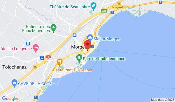 Google map positionnant le bien Fabuleux bureaux avec arcade, au bord du lac à Morges