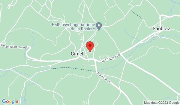 Google map positionnant le bien Superbe appartement de 4 pièces à Gimel