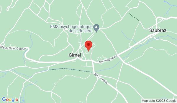 Google map positionnant le bien Superbe attique moderne de 105m2 à Gimel