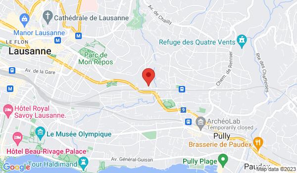 Carte situant Maison à vendre, Lausanne