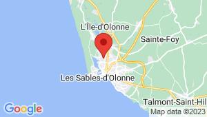 Carte de localisation du centre de contrôle technique OLONNE SUR MER