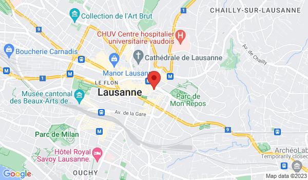 Google map positionnant le bien Bel appartement rénové de 3,5 pièces avec vue à Lausanne