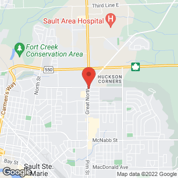 Map of Arby's at 258 Great Northern Road, Sault Ste Marie, ON P6B 4Z6