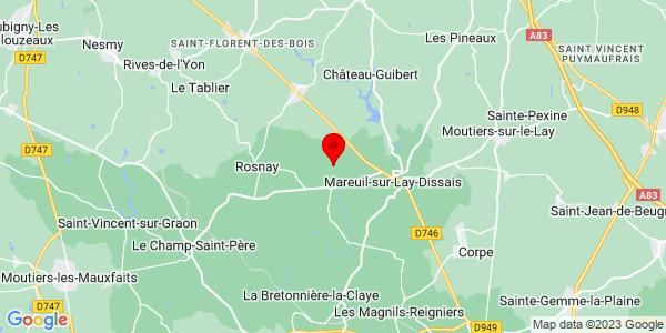 Google Map of 46.5402756,-1.2603487
